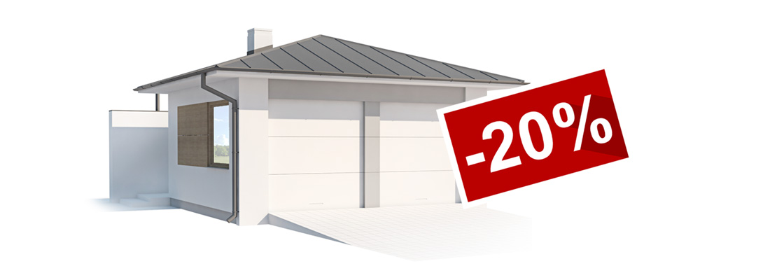 20 % rabatu na garaż lub bud gospod