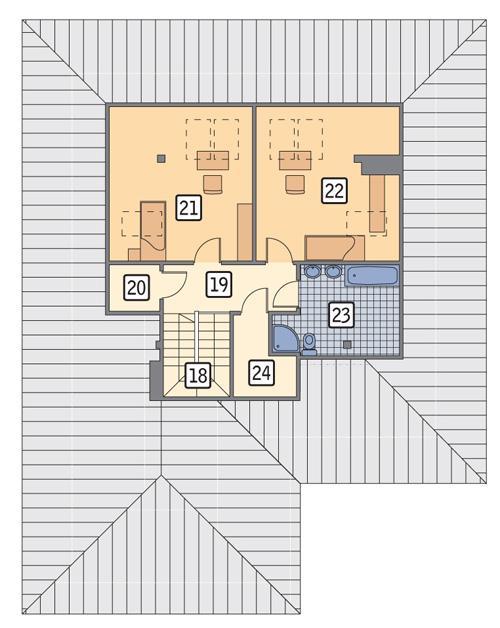 Rzut poddasza POW. 79,2 m²