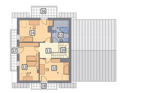 Rzut poddasza POW. 88,1 m²