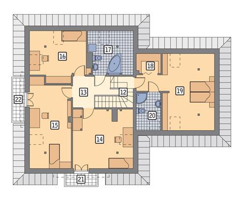 Rzut poddasza POW. 125,1 m²