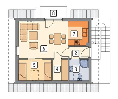 RZUT PODDASZA POW. 31,7 m²