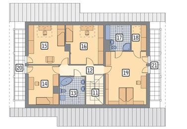 RZUT PODDASZA POW. 76,6 m²